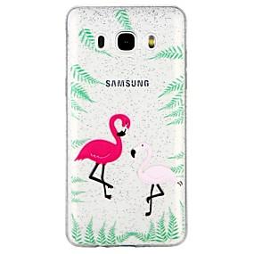 voordelige Galaxy J5(2017) Hoesjes / covers-hoesje Voor Samsung Galaxy J7 (2017) / J7 (2016) / J5 (2017) Doorzichtig / Patroon Achterkant dier / Cartoon / Glitterglans Zacht TPU