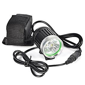 olcso Zseblámpák-Fejlámpák Biciklis első lámpa LED LED Sugárzók 6000 lm 1 világítás mód Professzionális Viseletbiztos Könnyű Kempingezés / Túrázás / Barlangászat Kerékpározás Vadászat Fekete