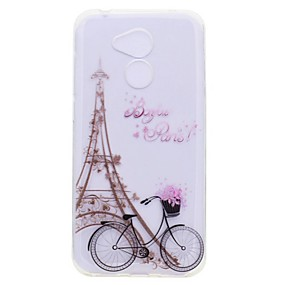 voordelige Huawei Honor hoesjes / covers-hoesje Voor Huawei Honor 9 / Huawei Honor 9 Lite / Honor 8 Transparant / Patroon Achterkant Eiffeltoren Zacht TPU