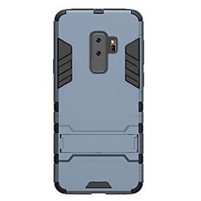 voordelige Galaxy S7 Edge Hoesjes / covers-hoesje Voor Samsung Galaxy S9 / S9 Plus / S8 Plus Schokbestendig / met standaard Achterkant Schild Hard PC