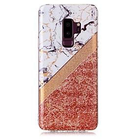 halpa Galaxy S -sarjan kotelot / kuoret-Etui Käyttötarkoitus Samsung Galaxy S9 Plus / S9 IMD / Kuvio Takakuori Kimmeltävä / Marble Pehmeä TPU varten S9 / S9 Plus / S8 Plus