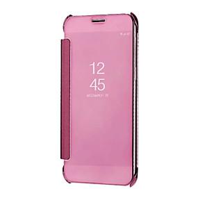 voordelige Galaxy A8 Hoesjes / covers-hoesje Voor Samsung Galaxy A5(2018) / Galaxy A7(2018) / A3 (2017) Spiegel / Auto Slapen / Ontwaken Volledig hoesje Effen Hard PC