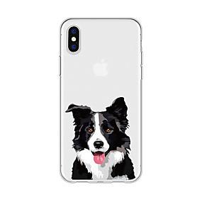 abordables Coques d'iPhone-Coque Pour Apple iPhone X / iPhone 8 Plus Motif Coque Chien / Animal / Bande dessinée Flexible TPU pour iPhone X / iPhone 8 Plus / iPhone 8