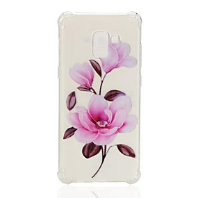 voordelige Galaxy A7(2016) Hoesjes / covers-hoesje Voor Samsung Galaxy A3 (2017) / A5 (2017) / A7 (2017) Schokbestendig / Transparant / Patroon Achterkant Bloem Zacht TPU