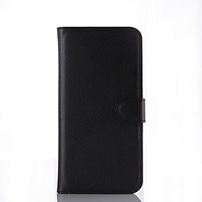 voordelige Galaxy A8 Hoesjes / covers-hoesje Voor Samsung Galaxy A7(2016) / A5(2016) / A3(2016) Portemonnee / Kaarthouder / Flip Volledig hoesje Effen Hard PU-nahka