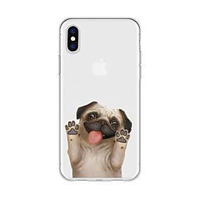 halpa iPhone 5S / SE kotelot-Etui Käyttötarkoitus Apple iPhone X / iPhone 8 Plus Kuvio Takakuori Koira / Eläin / Piirretty Pehmeä TPU varten iPhone X / iPhone 8 Plus / iPhone 8