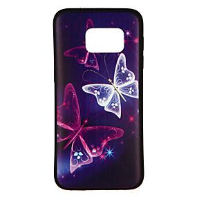 voordelige Galaxy S7 Hoesjes / covers-hoesje Voor Samsung Galaxy S8 / S7 edge / S7 Patroon Achterkant Vlinder Zacht TPU
