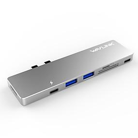 billige USB-hubs og kontakter-RELLECIGA USB 3.0 Type C to HDMI 2.0 / USB 3.0 / USB 3.0 Type C USB Hub 7 Havne Højhastighed