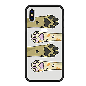 abordables Coques d'iPhone-Coque Pour Apple iPhone X / iPhone 8 Plus Motif Coque Chat / Chien / Bande dessinée Dur Acrylique pour iPhone X / iPhone 8 Plus / iPhone 8