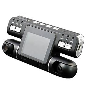 voordelige Auto DVR's-F105 1080p Nacht Zicht / 360 ° bewaking / Dubbele lens Auto DVR 120 graden Wijde hoek CMOS 2.7 inch(es) LCD Dash Cam met Bewegingsdetectie Autorecorder