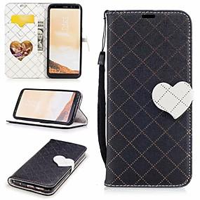 halpa Galaxy S -sarjan kotelot / kuoret-Etui Käyttötarkoitus Samsung Galaxy S8 Lomapkko / Korttikotelo / Tuella Suojakuori Sydän Kova PU-nahka varten S8