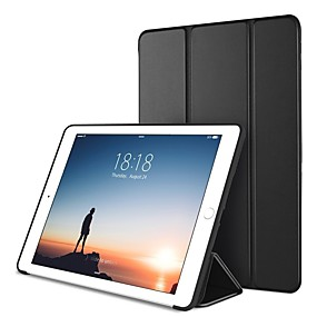 cheap Daily Deals-Case For Apple iPad Mini 5 / iPad New Air(2019) / iPad Air with Stand / Origami / Magnetic Full Body Cases Solid Colored Hard PU Leather / iPad Pro 10.5 / iPad (2017)