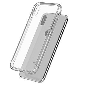 저렴한 오늘의 특가-케이스 제품 Apple 아이폰5케이스 / iPhone 6s 충격방지 / 투명 바디 뒷면 커버 솔리드 소프트 TPU 용 iPhone X / iPhone 8 Plus / iPhone 8