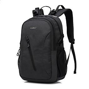 """tanie Gadżety do laptopów-Coolbell 13"""" Laptop / 14"""" Laptop / 15"""" Laptop Plecaki Nylon Solidne kolory dla biura biznesowego dla Colleages & Schools na podróż Wodoszczelność Odporne na wstrząsy z otworem na port USB do"""