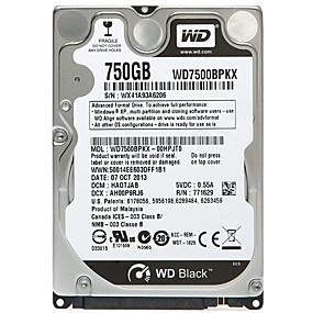 cheap Internal Hard Drives-WD Laptop / Notebook Hard Disk Drive 750GB SATA 3.0(6Gb / s) WD7500BPKX