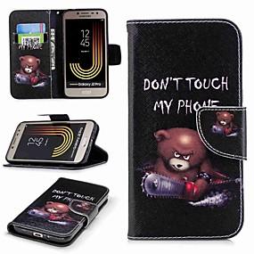 voordelige Galaxy J1 Hoesjes / covers-hoesje Voor Samsung Galaxy J7 (2017) / J7 (2016) / J7 Portemonnee / Kaarthouder / met standaard Volledig hoesje Woord / tekst Hard PU-nahka