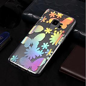 voordelige Galaxy S7 Hoesjes / covers-hoesje Voor Samsung Galaxy S9 / S9 Plus / S8 Plus IMD / Patroon Achterkant Vlinder Zacht TPU