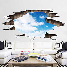 cheap Decoration Stickers-Decorative Wall Stickers / Floor Stickers - 3D Wall Stickers Landscape / 3D Living Room / Bedroom / Bathroom