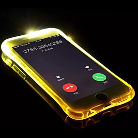 abordables Coques d'iPhone-Coque Pour Apple iPhone X / iPhone 8 Lampe LED Allumage Auto / Transparente Coque Couleur Pleine Flexible TPU pour iPhone X / iPhone 8 Plus / iPhone 8