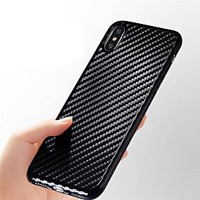 olcso iPhone tokok-Case Kompatibilitás Apple iPhone X / iPhone 8 Ultra-vékeny / Dombornyomott Fekete tok Vonalak / hullámok Puha Szénrost mert iPhone X / iPhone 8 Plus / iPhone 8