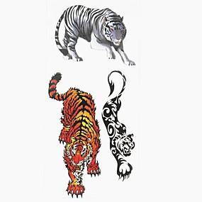 tanie Tatuaże tymczasowe-1 pcs Naklejki z tatuażem Tatuaże tymczasowe Seria zwierzęca Sztuka na ciele Ręka / Ramię / Nadgarstek