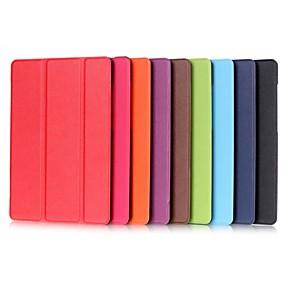 voordelige Galaxy Tab E 9.6 Hoesjes / covers-hoesje Voor Samsung Galaxy Tab S2 9.7 / Tab E 9.6 met standaard / Flip Volledig hoesje Effen Hard PU-nahka