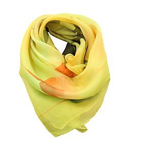 economico Sciarpe e scialli-Per donna Con fiocco, Vacanze Sciarpa quadrata - Chiffon Fantasia floreale / Per tutte le stagioni