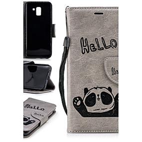 voordelige Galaxy J3(2017) Hoesjes / covers-hoesje Voor Samsung Galaxy J7 (2017) / J6 / J5 (2017) Portemonnee / Kaarthouder / met standaard Achterkant Panda Hard TPU