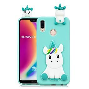 voordelige Mobiele telefoonhoesjes-hoesje Voor Huawei P20 Pro / P20 lite DHZ Achterkant Eenhoorn Zacht TPU voor Huawei P20 / Huawei P20 Pro / Huawei P20 lite / P10 Lite / P10