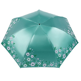 e2ef57935228a cheap Umbrellas-Polyester / Stainless steel Women's Sunny and Rainy  Folding