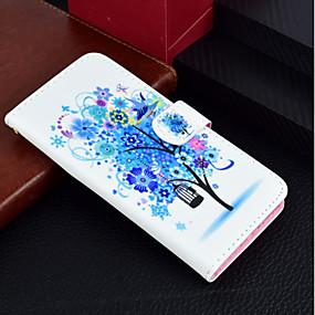 voordelige Galaxy J3(2017) Hoesjes / covers-hoesje Voor Samsung Galaxy J7 (2017) / J5 (2017) / J3 (2017) Portemonnee / Kaarthouder / met standaard Volledig hoesje Boom / Bloem Hard PU-nahka