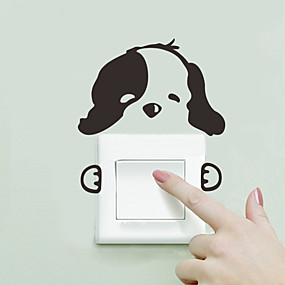 cheap Decoration Stickers-Decorative Wall Stickers / Light Switch Stickers - Animal Wall Stickers Animals Living Room / Bedroom / Bathroom