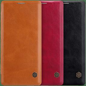 Недорогие Чехлы и кейсы для Galaxy Note 8-Nillkin Кейс для Назначение SSamsung Galaxy Note 9 / Note 8 Бумажник для карт / Флип Чехол Однотонный Твердый Кожа PU для Note 9 / Note 8