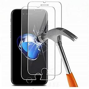 abordables Protections Ecran pour iPhone 7 Plus-Protecteur d'écran pour Apple iPhone 7 Plus Verre Trempé 2 pièces Ecran de Protection Avant Haute Définition (HD) / Dureté 9H / Coin Arrondi 2.5D