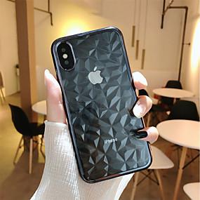 ieftine Apple-Maska Pentru Apple iPhone X / iPhone 8 Plus Placare / Transparent Capac Spate Model Geometric Moale TPU pentru iPhone X / iPhone 8 Plus / iPhone 8