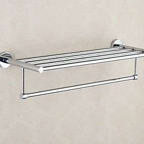 cheap Bathroom Gadgets-Towel Bar New Design / Cool Contemporary Stainless Steel / Iron 1pc Double Wall Mounted