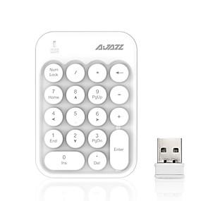 economico Tastiere-AJAZZ AK18 Wireless a 2,4 GHz tastiera numerica tastiera ufficio Corto Silenzioso 18 pcs chiavi