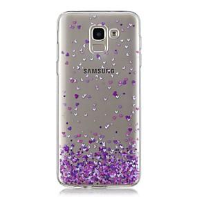 voordelige Galaxy J7(2017) Hoesjes / covers-hoesje Voor Samsung Galaxy J7 (2017) / J6 / J5 (2017) Transparant / Patroon Achterkant Hart Zacht TPU