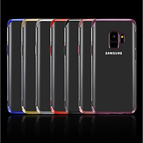 voordelige Galaxy A7(2016) Hoesjes / covers-hoesje Voor Samsung Galaxy A5(2018) / A6 (2018) / A6+ (2018) Beplating / Transparant Achterkant Effen Zacht TPU