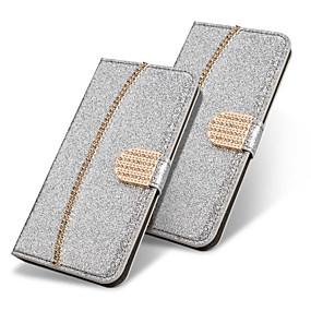 halpa Galaxy S -sarjan kotelot / kuoret-Etui Käyttötarkoitus Samsung Galaxy S9 Plus / S8 Plus Lomapkko / Korttikotelo / Paljetti Suojakuori Yhtenäinen / Kimmeltävä / Tekojalokivi Kova PU-nahka varten S9 / S9 Plus / S8 Plus