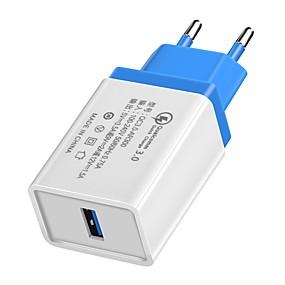 halpa Google-Laturi kotiin / Kannettava laturi USB-laturi EU-pistoke QC 3.0 1 USB-portti 3.5 A 100~240 V varten Universaali