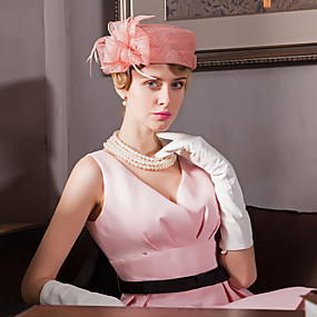 voordelige Hoeden & Petten-Dames - Feest - Linnen - Bolhoed / Cloche hoed