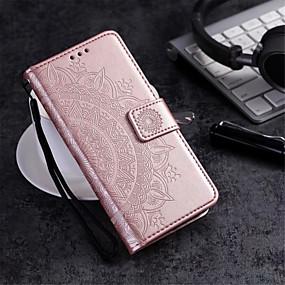 Недорогие Чехлы и кейсы для Galaxy S5 Mini-Кейс для Назначение Huawei S9 / S8 Plus / S8 Кошелек / Бумажник для карт / со стендом Чехол Цветы Твердый Кожа PU