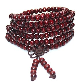 billige 10 % RABAT-Herre Perler Katedral Perleambånd Træ Kreativ Asiatisk Mode Kineseri Armbånd Smykker Gul / Brun / Grøn Til Ferie Festival