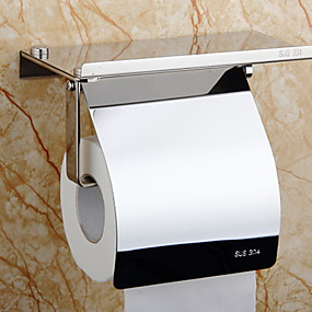 cheap Bathroom Gadgets-Toilet Paper Holder New Design / Cool Modern Stainless Steel / Iron 1pc Toilet Paper Holders Wall Mounted