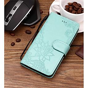 voordelige Huawei Honor hoesjes / covers-hoesje Voor Huawei Huawei Honor 10 / Honor 9 / Huawei Honor 9 Lite Kaarthouder / Reliëfopdruk / Patroon Volledig hoesje Bloem Hard PU-nahka