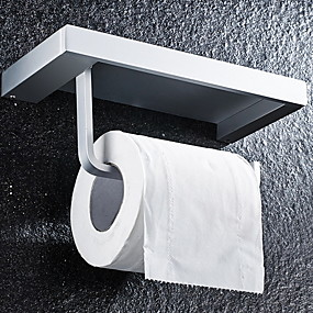cheap Bathroom Gadgets-Toilet Paper Holder New Design / Cool Contemporary Aluminum 1pc Toilet Paper Holders Wall Mounted