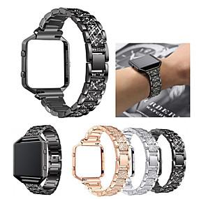 저렴한 Fitbit 밴드 시계-시계 밴드 용 Fitbit Blaze 핏빗 스포츠 밴드 / 쥬얼리 디자인 스테인레스 스틸 / 세라믹 손목 스트랩