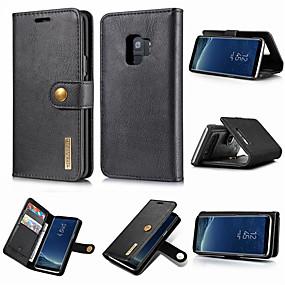 halpa Galaxy S -sarjan kotelot / kuoret-DG.MING Etui Käyttötarkoitus Samsung Galaxy S9 Plus / S9 Lomapkko / Korttikotelo / Tuella Suojakuori Yhtenäinen Kova aitoa nahkaa varten S9 / S9 Plus / S8 Plus