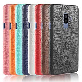 voordelige Galaxy S6 Edge Plus Hoesjes / covers-hoesje Voor Samsung Galaxy S9 / S9 Plus / S8 Plus Mat Achterkant Effen Hard PU-nahka